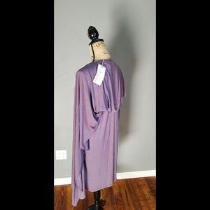 Miilla Clothing Dresses - Miilla slate purple tank dress with attached cape